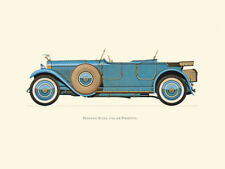 Canvas Print Vintage Car Poster Illustration - HISPANO SUIZA 1926 (6B PHAETON)