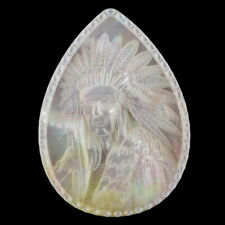 Carved Native American MOP PEARL CAB FC100116