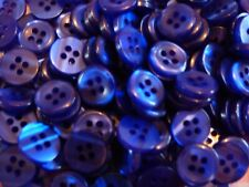 Small 11mm Black Royal Blue Green Lilac 4 Hole Shirt Buttons Sewing Craft ML6L-O