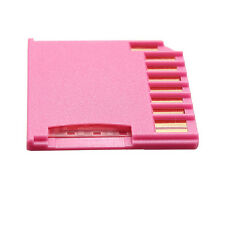 Pink Micro SD TF to Mini Drive SD Adapter for MacBook Air/Pro Gold Pin