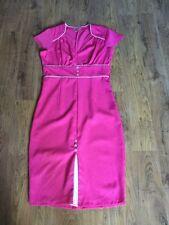 Gorgeous Pink Kick Pleat Dress From Lindy Bop Size 12