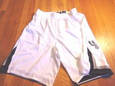 ADIDAS NBA AUTHENTIC SAN ANTONIO SPURS WHITE LIGHT WEIGHT GAME SHORTS SIZE XL+2""