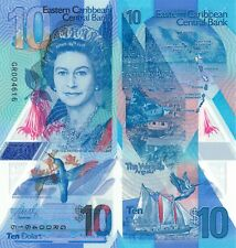 East Caribbean States 10 Dollars (2019) - QEII/Hummingbird/Bay pNew UNC