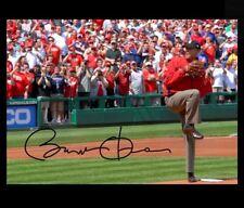Barack Obama Autographed Repro PHOTO First Pitch Washington Nationals Signed Pic