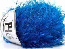 Royal Blue Long Eyelash Yarn Ice Blue Fun Fur 22780 50gram