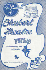 "Robert Guillaume ""PURLIE"" Patti Jo / Sherman Hemsley 1972 New Haven Playbill"