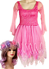 Women's Adult Fairy Dress Costume Pink and Lilac & Free Organza Garland