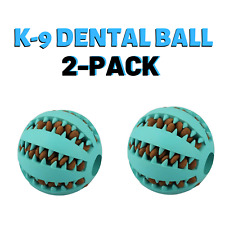2PACK Rubber Ball Chew Dental Chew Toy For Puppies, Dogs, Cats Treat Ball