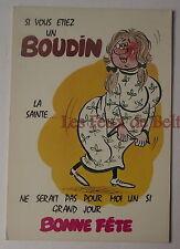 Carte postale Bonne fête,vintage,si vous etiez un boudin , CPSM