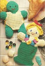 *Turtle & Mermaid Bathtub Puppets crochet PATTERN INSTRUCTIONS