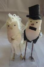 Silvestri Ann Wood Enchanted Bird Wedding Cake Topper Ornaments Bride & Groom