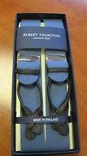 ALBERT THURSTON BOXCLOTH LEATHER END BRACES SAXE BLUE