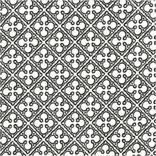 Michael Miller Rouge et Noir Quatrefoils Fabric in Ebony 100% Cotton