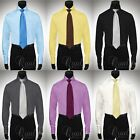Giorgio Ferraro Mens Dress Shirts Windsor Collar & French Cuffs Retail $55