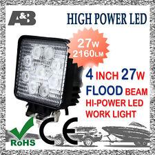 A&B 27W LED WORK LIGHT OFF ROAD WORK LAMP FLOOD BEAM 12V 24V