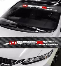 HONDA CIVIC Type R JDM Car Windshield Carbon Fiber Vinyl Banner Decal Sticker