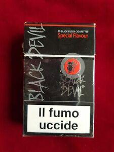 BLACK DEVIL PACCHETTO SIGARETTE VUOTO FOR COLLECTION EMPTY CIGARETTES PACKAGE