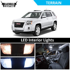 White LED Interior Lights Accessories Replacement Kit fits 2010-2017 GMC Terrain