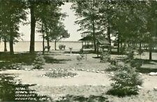 Houghton Lake MI Johnson's Rustic Resort Hotel Grounds RPPC