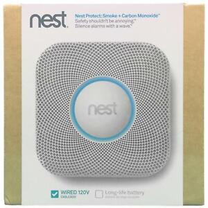 Nest Protect Smoke and Carbon Monoxide Alarm (Wired 120V) S1001LW