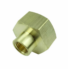 "3/4"" Female GHT x 1/4"" Female NPT Brass Hex Garden Hose Adapter"