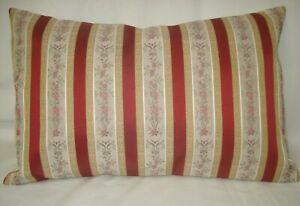 "Silk Lumbar Vintage Accent Decorative Pillow Cover Ribbon Stripes 12""x 18"""