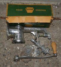 Vintage Keystone Food Chopper/Meat Grinder #30 w/ Original Box