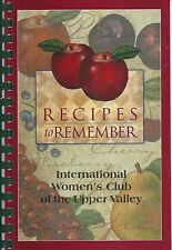 HANOVER NH 2000 ETHNIC COOK BOOK *INTERNATIONAL WOMEN'S CLUB OF THE UPPER VALLEY