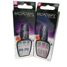 2 Broadway Nails Halloween Press On Manicure Rip & Broomstick, NEW