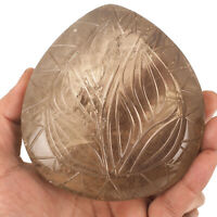 4505 Cts Natural Smokey Quartz Huge Museum Size Moghul Carved Certified Gemstone