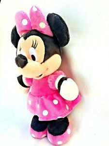 Disney Minnie Mouse Pink Polka Dot Dress Soft Plush Stuffed Toy 38CM Collectable