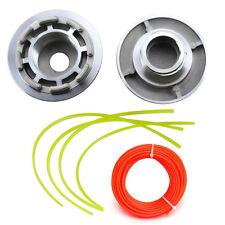 Aluminium Fadenkopf Doppelfadenkopf Fadenspule + 15m 2,4mm Faden für Motorsense