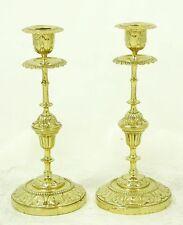 PAAR  Kerzenleuchtern aus  Bronze Feuervergoldet.ca.1860