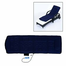 Electric Heated Vibration Massage Mat Bed Chair Relaxing Body Cover Plush Blue