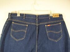 Lee Womens Jeans Regular Fit Straight Leg Size 42 Color Blue Made in USA