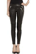 JOSEPH Spark Stretch Leather Legging Style Black Pants Sz 42 Motocross $1257 NWT