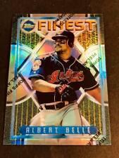 1995 Topps Finest Refractor w/peel Albert Belle Indians #82