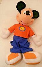 "Fisher-Price Disney Mickey Mouse Plush 25"" Jumbo Giant Stuff Animal Orange Shoes"