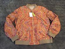 Men's Robert Graham Claystone Reversible Silk Bomber Jacket Sz L NWT $698