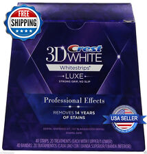 Crest 3D White Luxe Whitestrips Professional Effects 40strips 20 Pouch -50 Boxes
