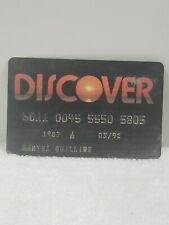 Collectable Credit card Discover Card
