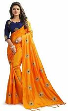 Saree Sari Indian Bollywood Designer Style Fancy Embroidery Wear Wedding blouse