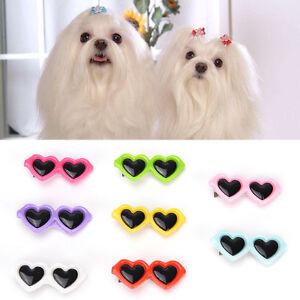 Fashion Cute Pet Dog Hair Bow Hair Clips Puppy Grooming Hairpin Sunglasses Jw