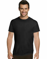 Hanes Undershirt 4Pack T-Shirt Ultimate Men Comfort Ultra Soft Cotton Black Grey