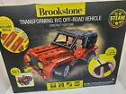Brookstone 705480BRS Transforming R/C Off Road Vehicle Jeep Tractor Toy 2 In 1