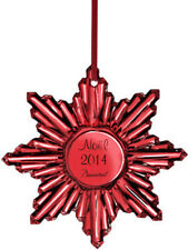 Baccarat Crystal 2014 Annual Noel Snowflake Christmas Ornament Mirror Red $190