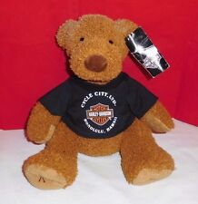 "Harley Davidson Motorcycles PUPPY DOG Brown Plush Honolulu,Hawaii Shirt 10"" 2004"