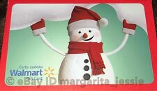"WALMART CANADA HOLIDAY 2016 GIFT CARD ""WINTER SNOWMAN"" NO VALUE NEW XMAS"