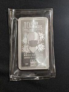 10 Oz Envela .999 Silver Bar BU Minted During Pandemic - May 2020 Edition