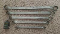 Vintage Wards Lakeside Closed End Wrenches No 84-4718 set of 5